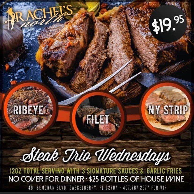 $19.95 Steak Trio Wednesdays